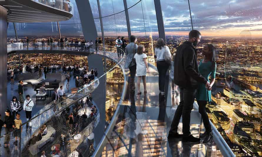 Artist's impression of the public skybridge at the proposed Tulip development in London.