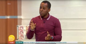 Andi Peters talking about the lack of diversity at the Baftas while presenting on GMTV, 3 February
