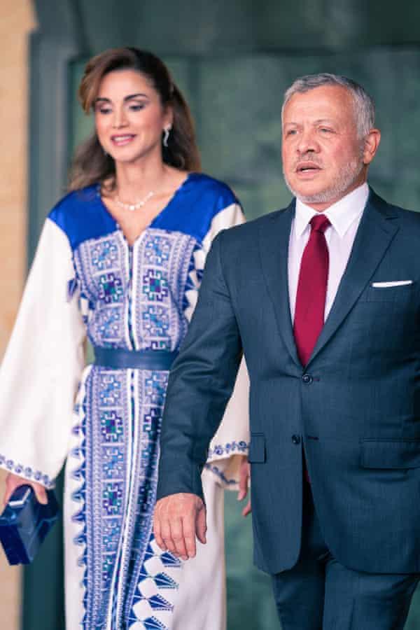 King Abdullah II and Queen Rania.