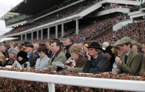 Titfers seem to be the order of the day amongst the punters in the packed stands watching the County Hurdle