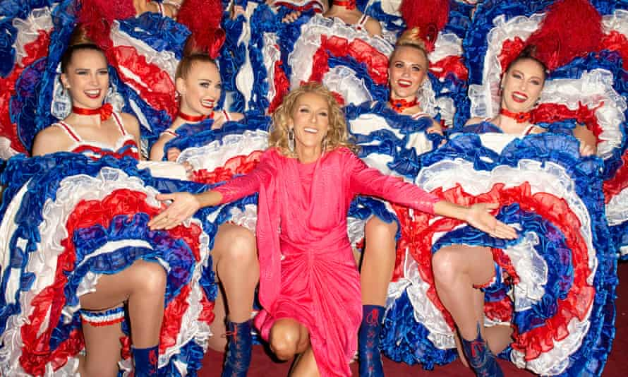 Céline Dion at the Moulin Rouge during Paris fashion week, January 2019.
