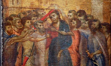 Christ Mocked, a painting by the Italian artist Cimabue