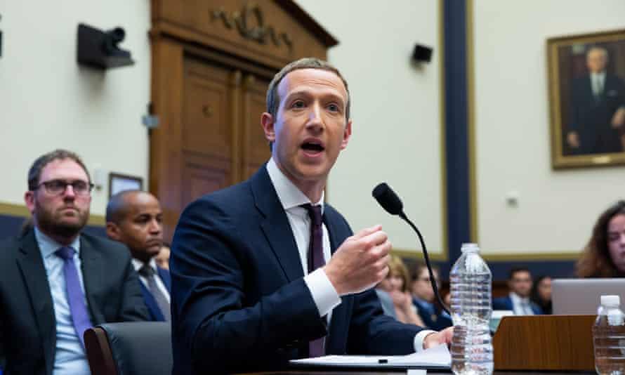 Facebook CEO, Mark Zuckerberg, responds to a question directed toward him by Democratic representative Alexandria Ocasio-Cortez on Capitol Hill in October 2019.