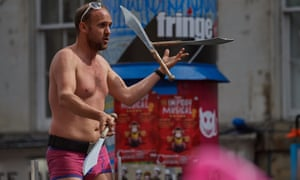 A street performer at this year's Edinburgh festival