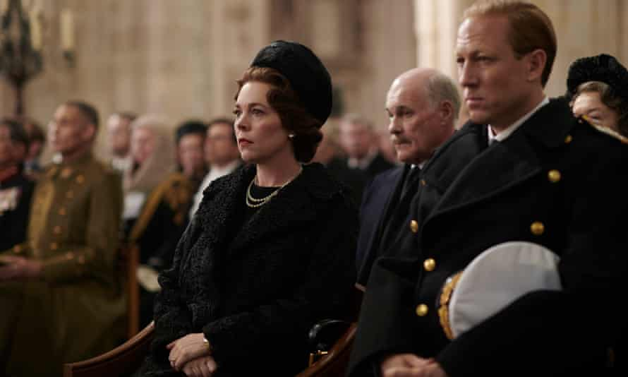The Queen with Prince Philip in The Crown.