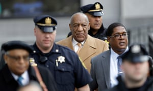 Bill Cosby leaves his sexual assault trial in Norristown, Pennsylvania on Thursday.