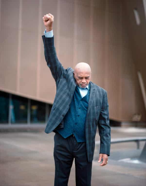 Smith salutes.
