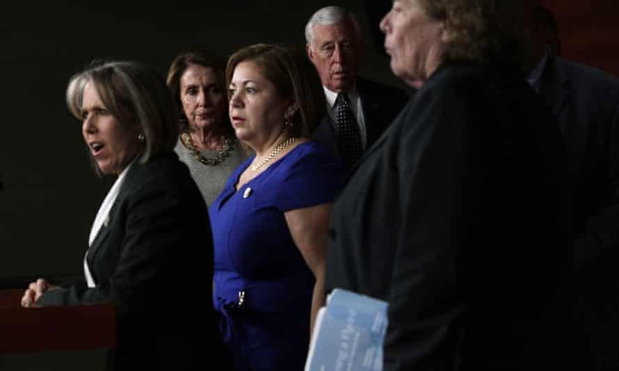 House Democrats held a news conference to express their frustration after their meeting on the recent ICE raids.