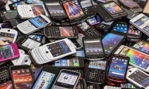A pile of mobile phones