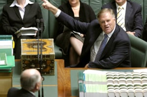 Kim Beazley takes on John Howard in question time. In 1998 'the prevailing wisdom held that Labor could surf the GST to victory'. Photograph: Alan Porritt/AAP