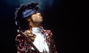 Prince on stage in 1985