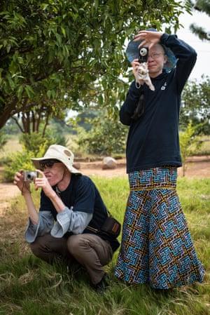 Musa Manyasi and Jeneroza Kampala, two of the Umoja Photographers.