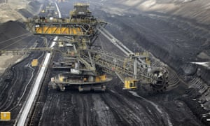 Open-cast mine in Jaenschwalde, eastern Germany
