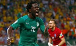 Ivory Coast's Wilfried Bony