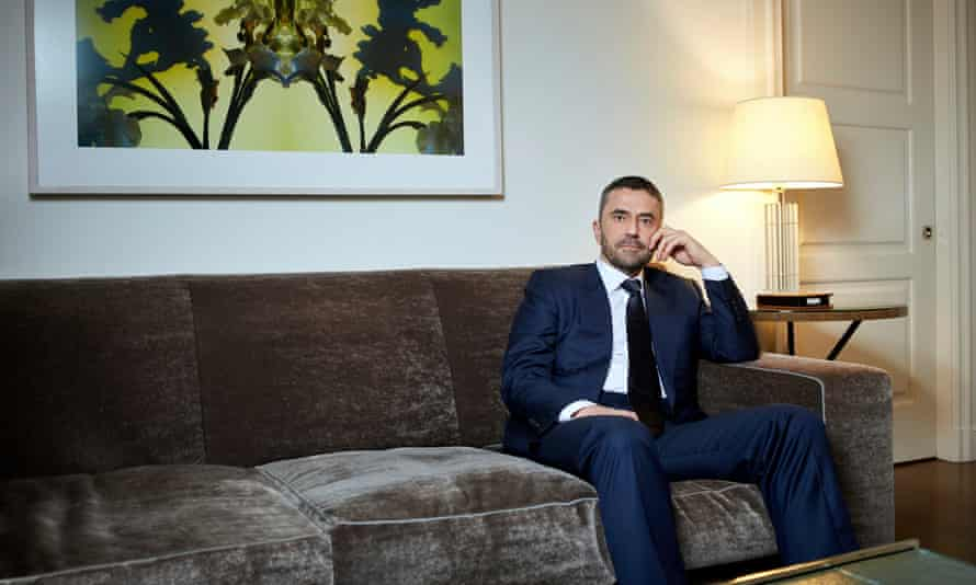 Omar Saif Ghobash photographed at the Mark hotel, New York, by Mike McGregor for the Observer New Review.