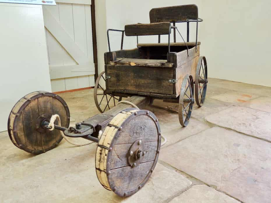 An old buggy in the barracks at the Alice Springs Telegraph Station