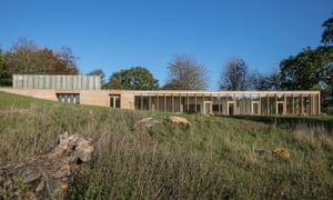 The Weston visitor centre at Yorkshire Sculpture Park, by Feilden Fowles architects.
