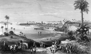 Bombay's famous fort, circa 1850.