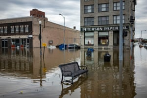 Davenport was hit with a huge water surge in the Mississippi river this year, causing flooding in downtown.