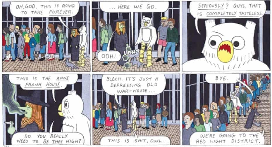 Scene from Megg and Mogg in Amsterdam by Simon Hanselmann.