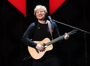Ed Sheeran performing in New York in December 2017.