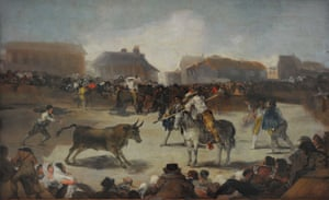 Goya's Bulls in a Town, 1808-1812.
