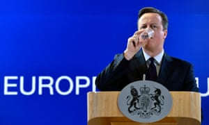 David Cameron during a news conference after a European Union leaders summit in Brussels