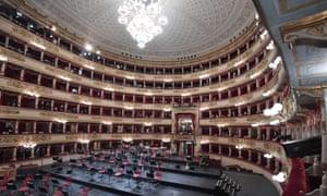 Teatro alla Scala in Milan, Italy.