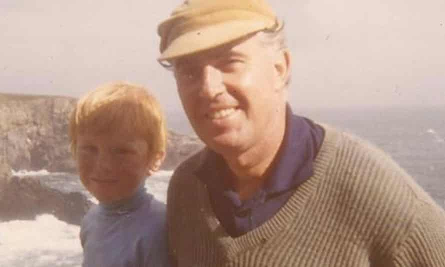 A young Martin Davies with his father