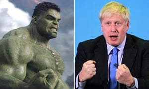 Just think of the EU and … Mark Ruffalo as the Hulk, left, and Boris Johnson.