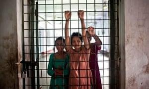 Patients at Pabna Mental Hospital in Bangladesh