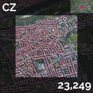 CZ - population density maps - prague