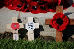 Remembrance crosses in Bayeux, France