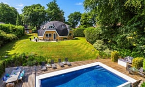 Home and away properties that are round, in Westerham, Kent