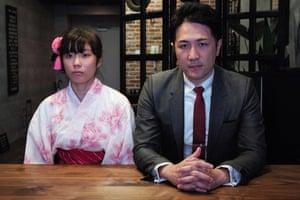 Company boss Yuichi Ishii, right, with Mahiro Tanimoto, in Family Romance, LLC.
