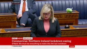 Michelle O'Neill in the Stormont assembly