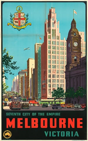 Melbourne: Seventh City of the Empire – travel poster (1930)