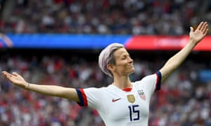 Megan Rapinoe after scoring her first against France