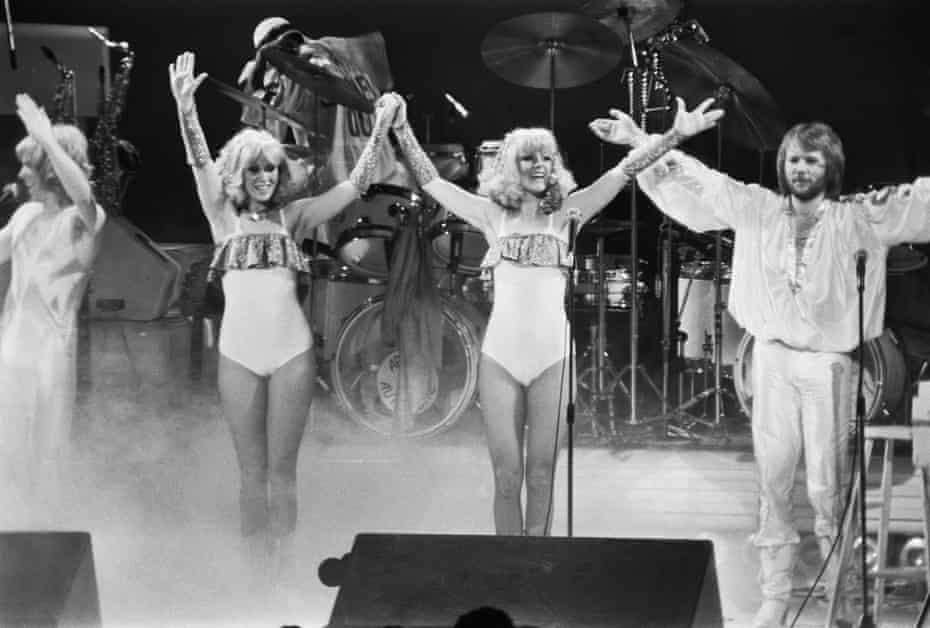 Abba take the applause in 1977.