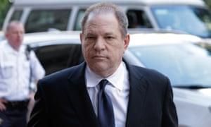 Harvey Weinstein arrives to court in New York.