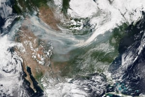 Wildfires burn across the western United States and Canada