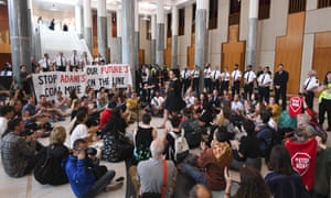 Protest in Parliament House