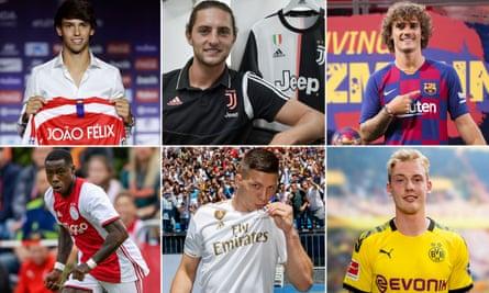 João Félix, Adrien Rabiot, Antoine Griezmann, Julian Brandt, Luka Jovic and Quincy Promes