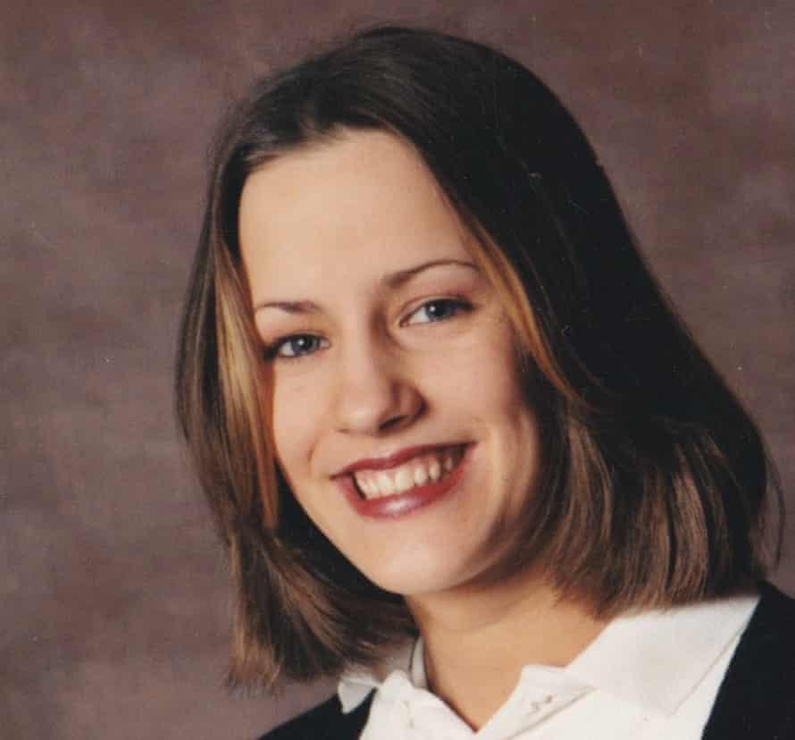 Caroline Flack at school in the 1990s.