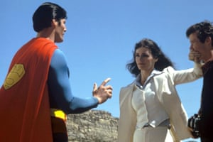 Christopher Reeve, Margot Kidder and Marc McClure in Superman (1978)