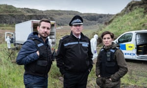 Martin Compston, Adrian Dunbar and Vicky McClure in Line of Duty. Photograph: Peter Marley/World Productions/BBC