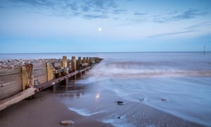 Looking out to the North Sea from Hornsea at dusk.