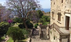 Sea views from Hotel del Corso, Taormina.