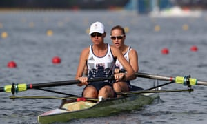 Heather Stanning and Helen Glover on their way to Olympic gold in the women's pair.