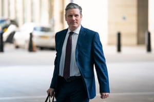 Sir Keir Starmer arrives at BBC Broadcasting House in London to appear on the Andrew Marr.